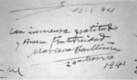 Firma de Don Mariano Benlliure y Gil en el Libro de Oro de la Cofradía California en 26 de marzo de 1941