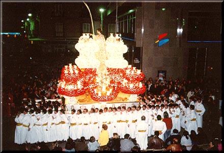 Trono de San Juan un Martes Santo